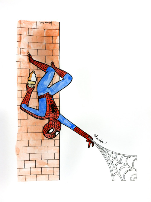 mariswicks:  Spidey, getting ready to enjoy some soft serve.