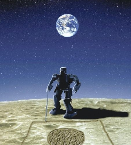 Forty three years ago today, humankind set foot on the Moon for the first time. Odds are pretty good we'll find robots have conquered the lunar landscape by the time we go back.  (image via TechCrunch)