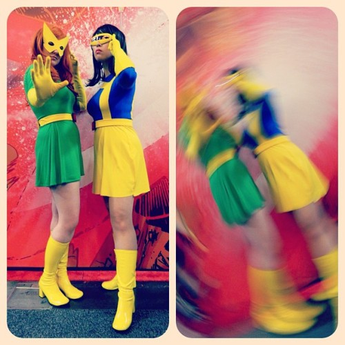 AK & I, as Marvel Girl & Rule 63 Cyclops on Saturday. photos: Joe