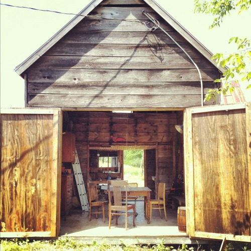 cabinporn:  Former icehouse in Buckfield, Maine. Submitted by Daniel Werwath.