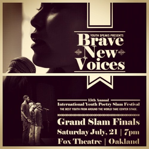 So stoked to see Kai Davis tomorrow at the @bravenewvoices Grand Slam Finals! (Taken with Instagram)