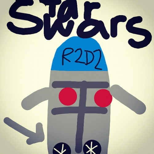 I #drawfree drew @delsoul Brandon #r2d2 #starwars #robot  (Taken with Instagram)