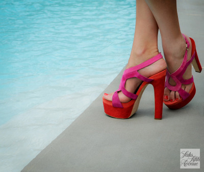 10022-shoe:  Cooling off in Brian Atwood!Photo by KSW