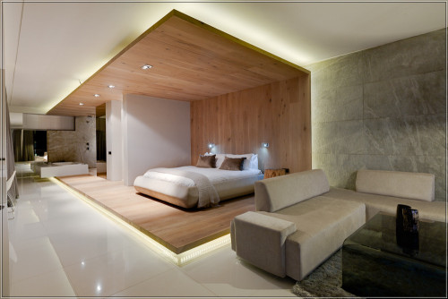 bedroom in hotel - architecture by Stefan Antoni, Cape Town