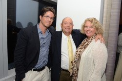 GLAAD President Herndon Graddick with GLAAD co-founder Vito Russo's brother Charles and his wife Lisa at the premiere of Vito, a new documentary premiering Monday on HBO.