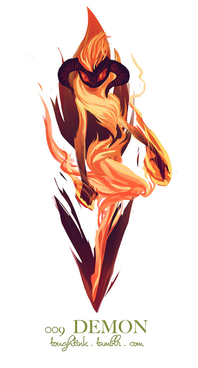 here's a fire demon for you all!! now, if i can only manage to finish my succubus today then i'll be back on track! am i the only one that thought it was kind of weird to have demon and succubus right next to one another on the list?