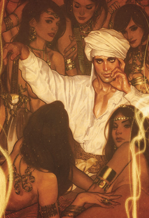 Adam Hughes - The cover to FAIREST issue number 4 featuring Ali Baba. Drawn on cream colored drawing paper using Copic markers, white paint, and pencil