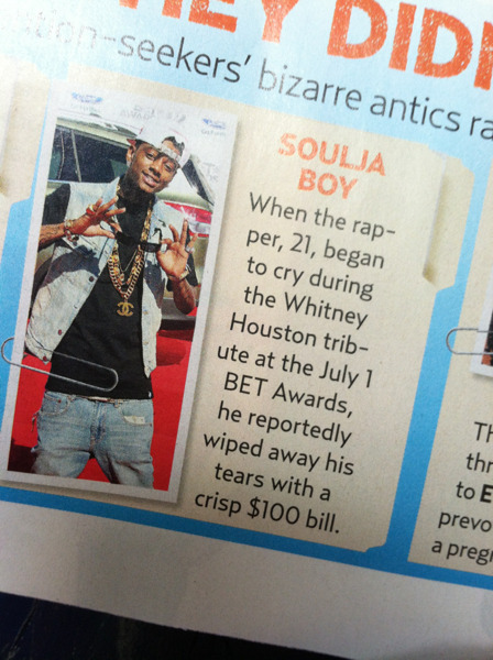 Soulja done fell off.  Feel bad for him.  Hope he has some great investments.