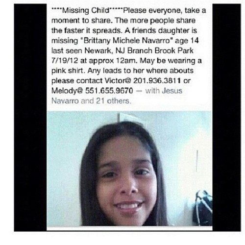 #missing #help #nj #newjersey #newark #pleasehelp  (Taken with Instagram)