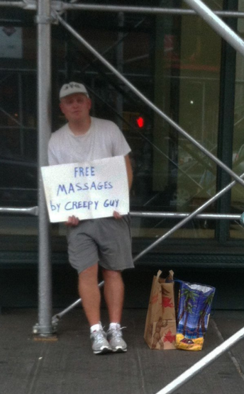 Creepy Guy Offers Massages Free? How could I pass that up?