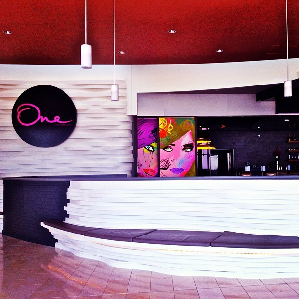 White Bar: #casino #revel #atlanticcity #lounge #bar #interior  (Taken with Instagram at One)