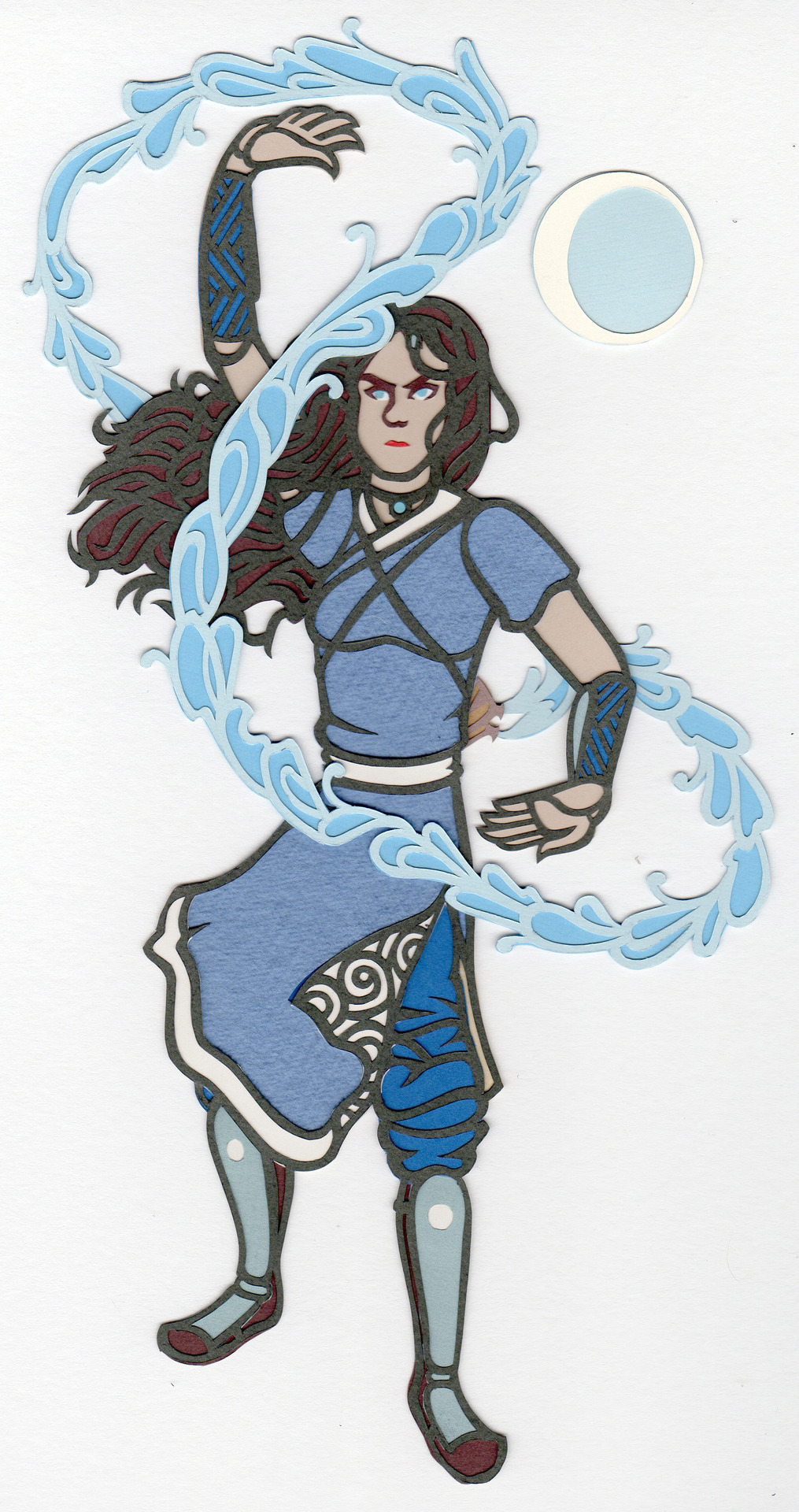 Katara for Ten Paces and Draw! Love that girl! See other artists' interpretations here.