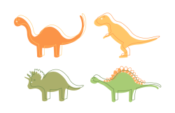 Alphabet of designs #4 - Dinosaurs!