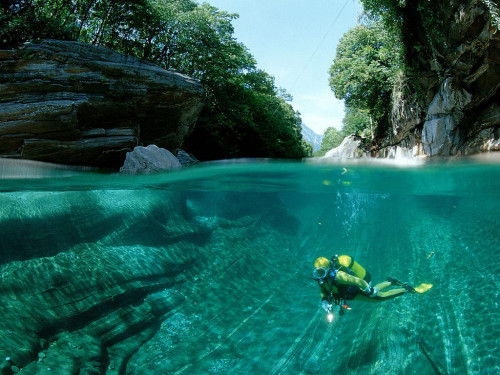 russianprivjet:  The Verzasca River, Swiss Alps