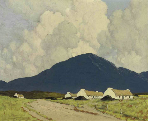 poboh:  In Connemara, Paul Henry. Irish (1876 - 1958)