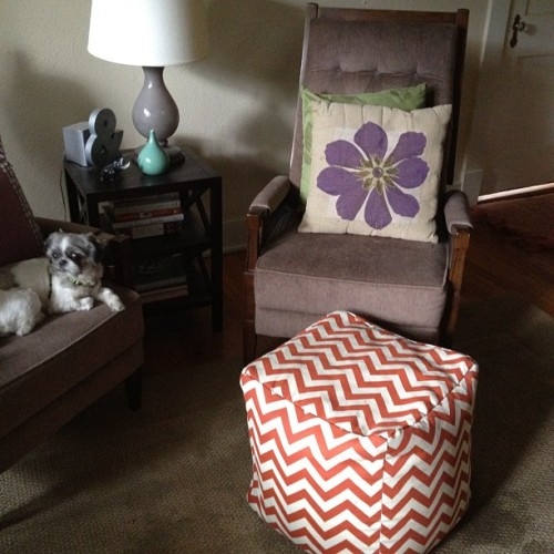 New chevron ottoman (Taken with Instagram)