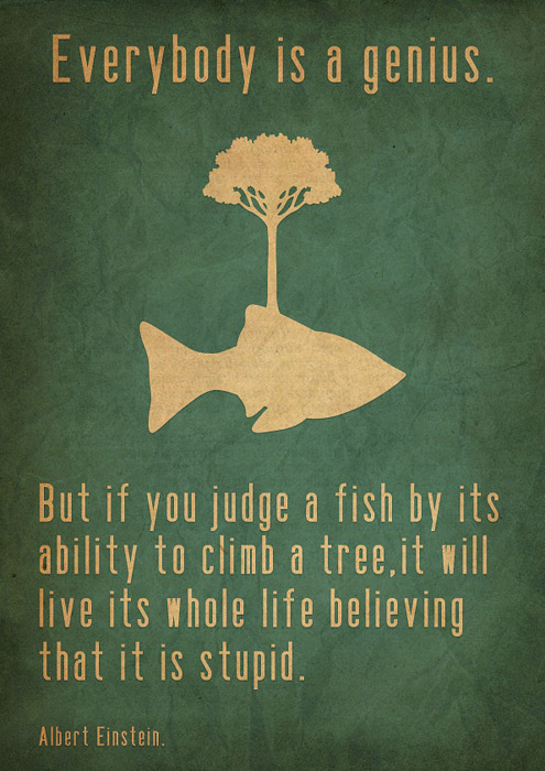 fishes can't climb trees silly