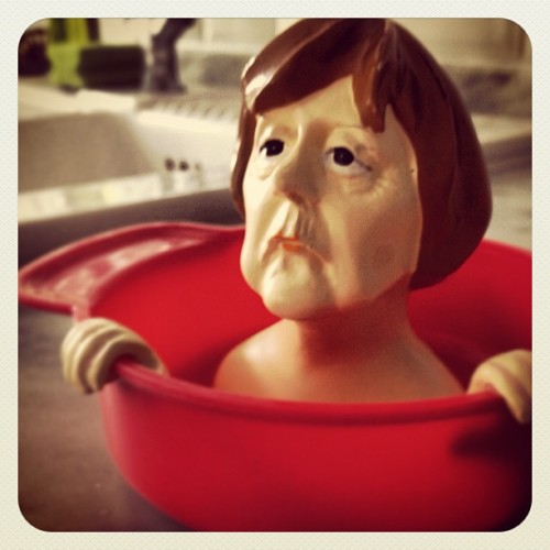 Angela Merkel Orange Juicer (Taken with Instagram at Haliflor)