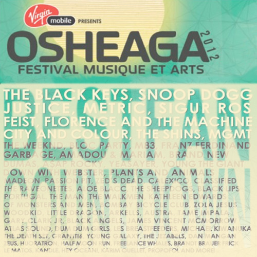 Osheaga Coutdown! Everyday until Osheaga we're going to share an audio link of some of our favourite artists playing at the huge outdoor music festival in Montreal this year. These are going to be songs that we just can't get enough of and will pretty much be on repeat until the day that the festival begins! We'll choose 12 awesome songs in honor of the 2012 festival- one everyday until the festival begins (August 3rd)! Stay tuned and check back starting Sunday July 22!