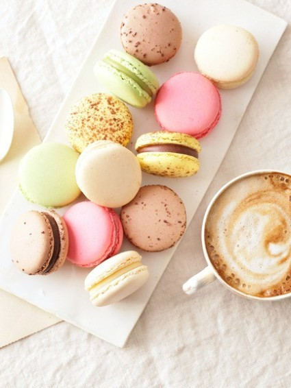 sweet macarons for a tea party
