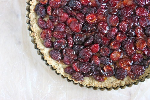 suzanne goin's roman cherry tart with almond crust