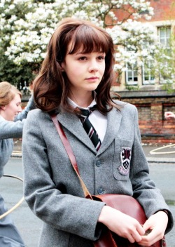 Carey Mulligan as Jenny Mellor in An Education..