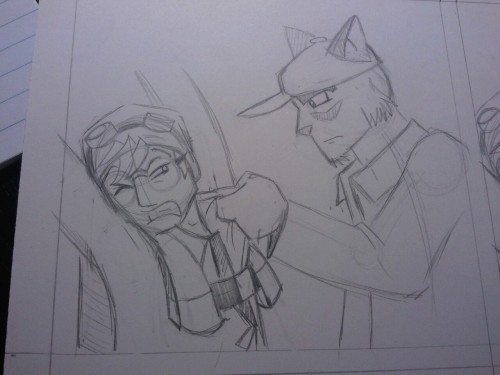 Quick post of a panel I'm working on. COMICS!!