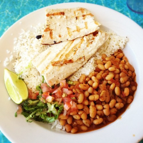 Wahoos! :) grilled #fish and cajun beans #delicious (Taken with Instagram)
