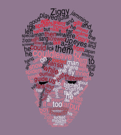 loveyoutilltuesday:  Ziggy Stardust lyrics by Panda Haren