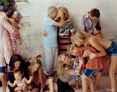 The Richards' Family Photographed by Bruce Weber for Vogue (Aug 2012)