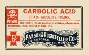 Carbolic acid, you see… and she gave it to him quite by mistake. Very sad, really. Poor little tyke. I knew the child. Of course, one does wonder…        ~ Old NYT article: Baby poisoned by accident      *    *    *    *    *    *    *    *    *    *