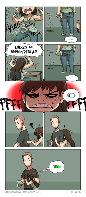 okashido:  Bad Day by `Zombiesmile I wish I had a relationship to be in i_i