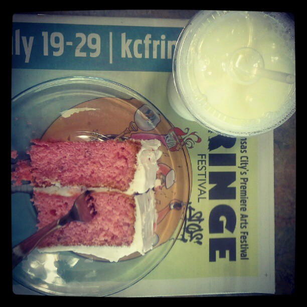 Strawberry Cake/Milk (Taken with Instagram at Westport Coffee House)