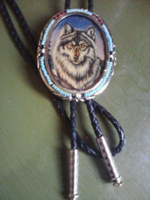 Bolo Tie AND A Wolf Cameo?! Pretty much amazing.