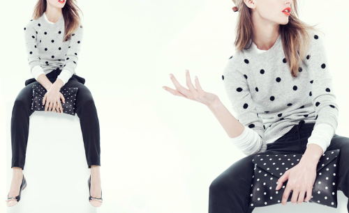 J.Crew Spotted for Fall  I love the sheer amount of polka dots that seem to be available for me to choose from this fall.