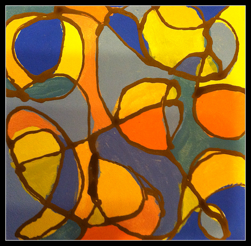 07/19/2012: Abstract Tile design, glazed at Mimosa Studios
