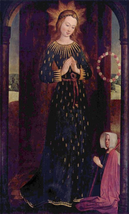 colourthysoul:  Hinrik Funhof - Maria im Ährenkleid (The Virgin Mary with Headdress) (1480)