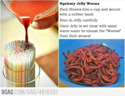 9gag:  How To Make Jelly Worms