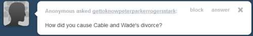 Well it was more they hated each other and when Wade flirted while fighting I flirted back. His ass is in jail anyway, Pop made sure of that. I love you Pop!