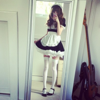 bcky:  Maid dress (Taken with Instagram)