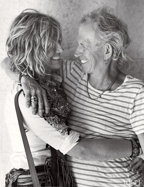 Patti Hansen & Keith Richards, Vogue 2012.