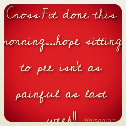 (Made with @Versagram) #crossfit #squats #dontwanttopee.  (Taken with Instagram)