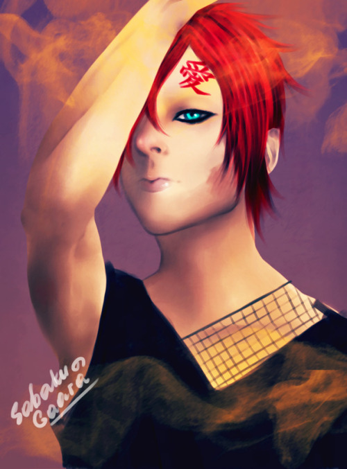 I've tried to draw smth a bit more realistic and I love Gaara, so he was my model (and inspiration.) oh, and filters…photoshop filters everywhere xD