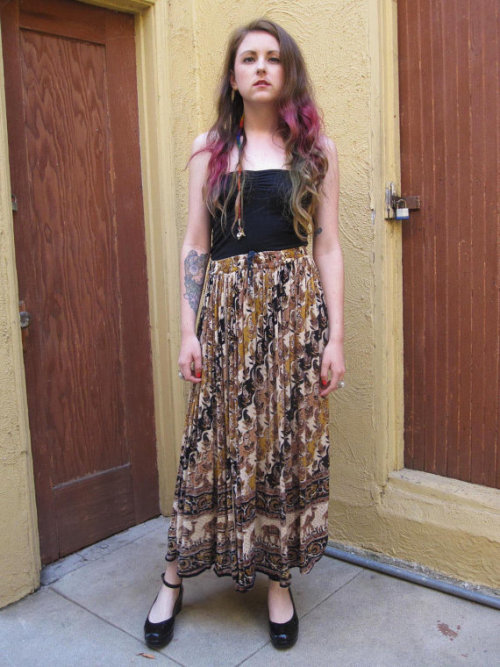 Camel Print Maxi Skirt now available on Etsy from SPIRIT ANIMALS