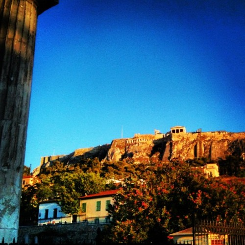 The #Acropolis #rock #Parthenon #Erectheion #Plaka #Athens #Greece #column #ancient #nature #view #myth #perfection (Taken with Instagram)