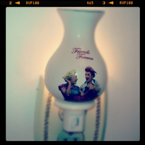 I Love Lucy night light. (Taken with Instagram)