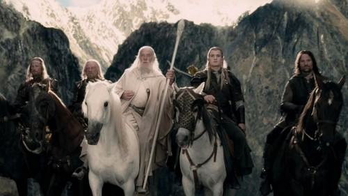 Legolas is the only rider with a white horse other than Gandalf. Cuz he's fucking worth a white horse.