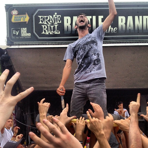 staydirty:  joe b of #transit #warpedtour (Taken with Instagram)