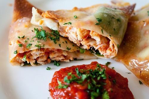 Chicken Parmesan Wraps - 178 Calories!