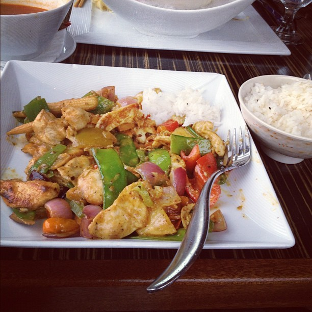Panang curry at Feng (Taken with Instagram)